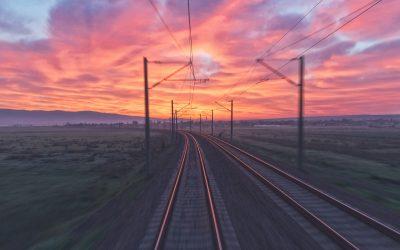 Arjan Heinen aan het woord tijdens de Railtech 2019